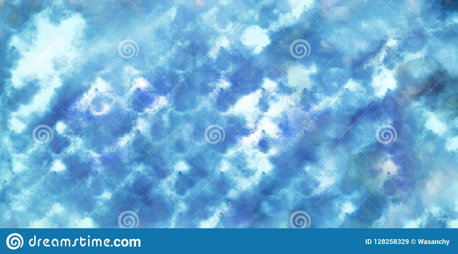 Blue watercolor abstract pattern background.
