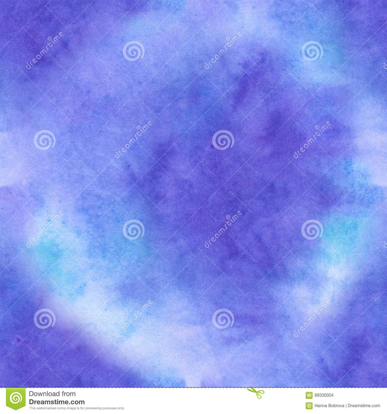 Blue Watercolor seamless texture abstract ackground watercolor in old paper