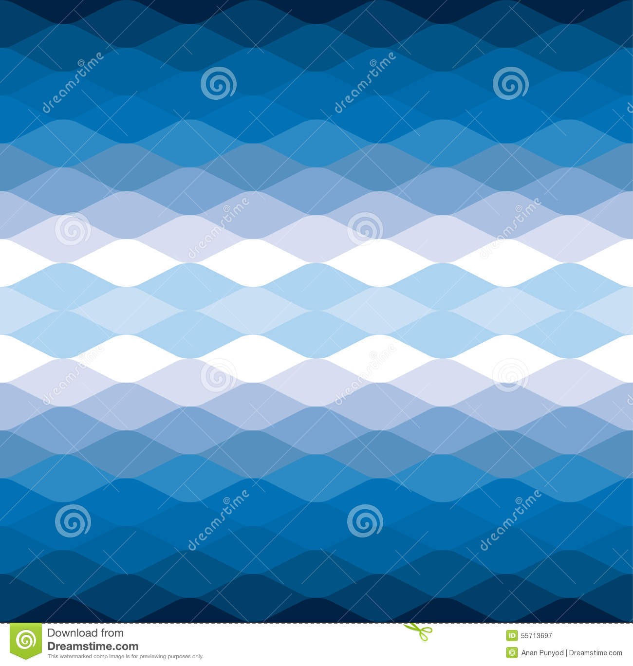 blue wave water cool vector pattern background stock