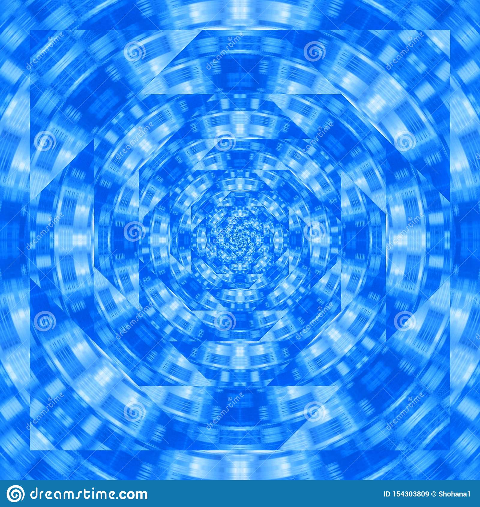 Blue Wavy Abstract Illustration Mirror Effect Applied Best