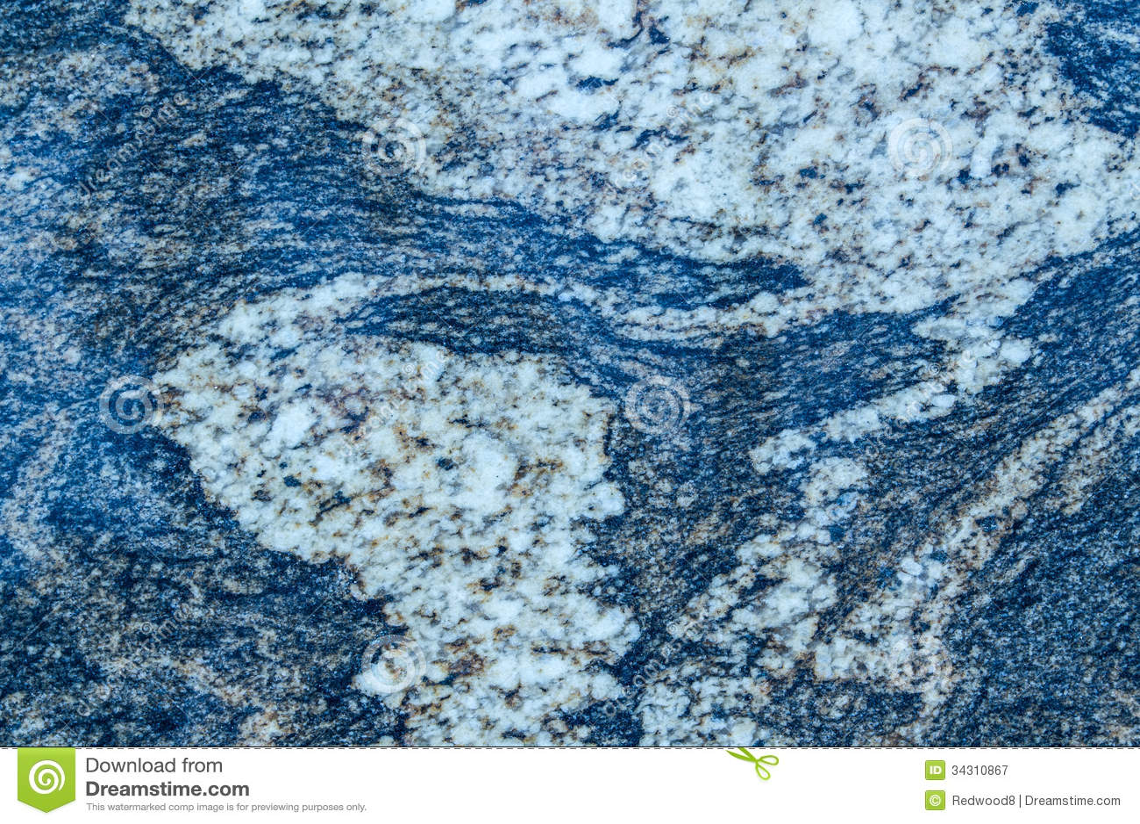 Blue Wavy Granite Pattern Stock Image Image Of Natural