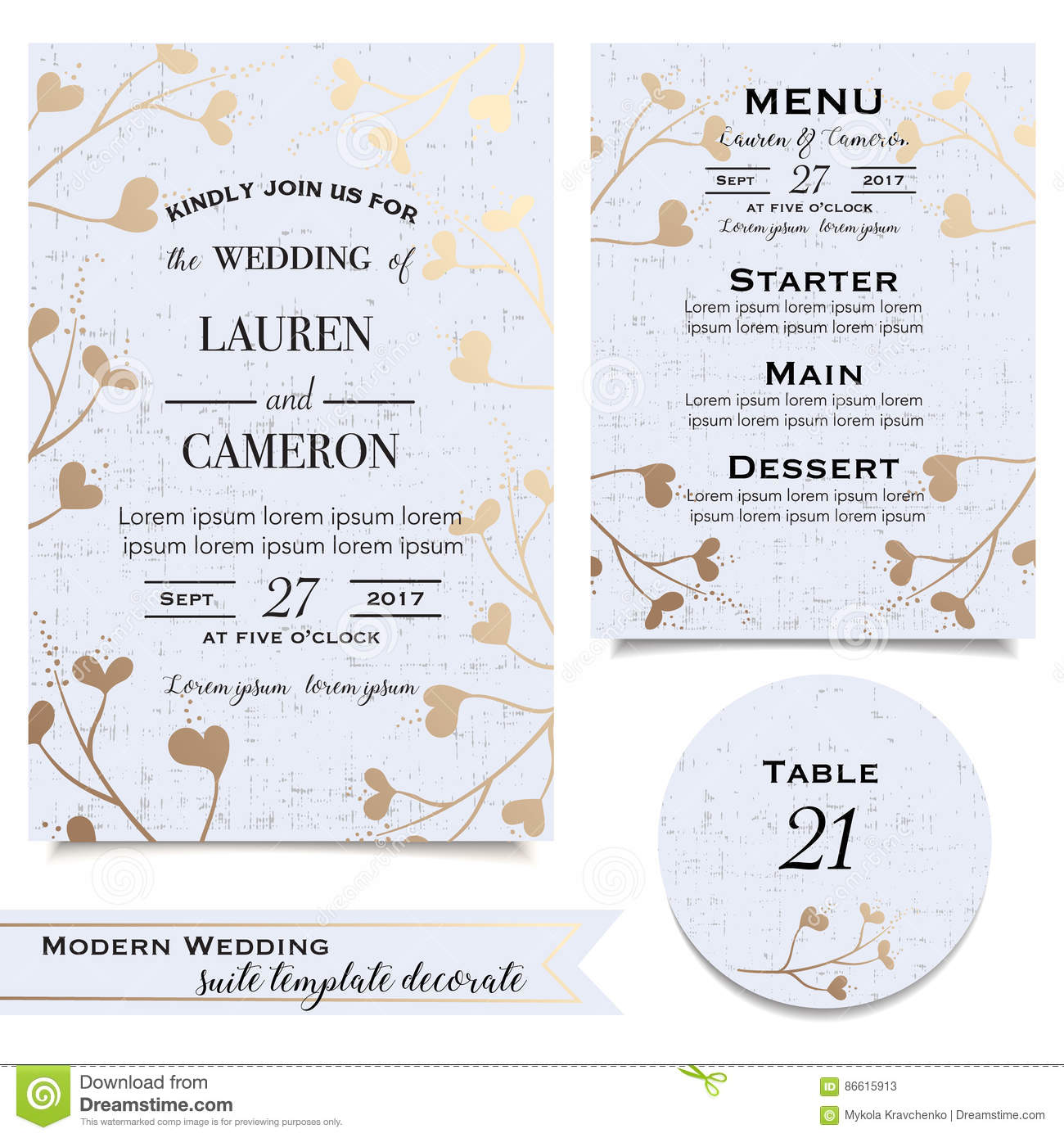 blue wedding cards with invitation save the date card menu