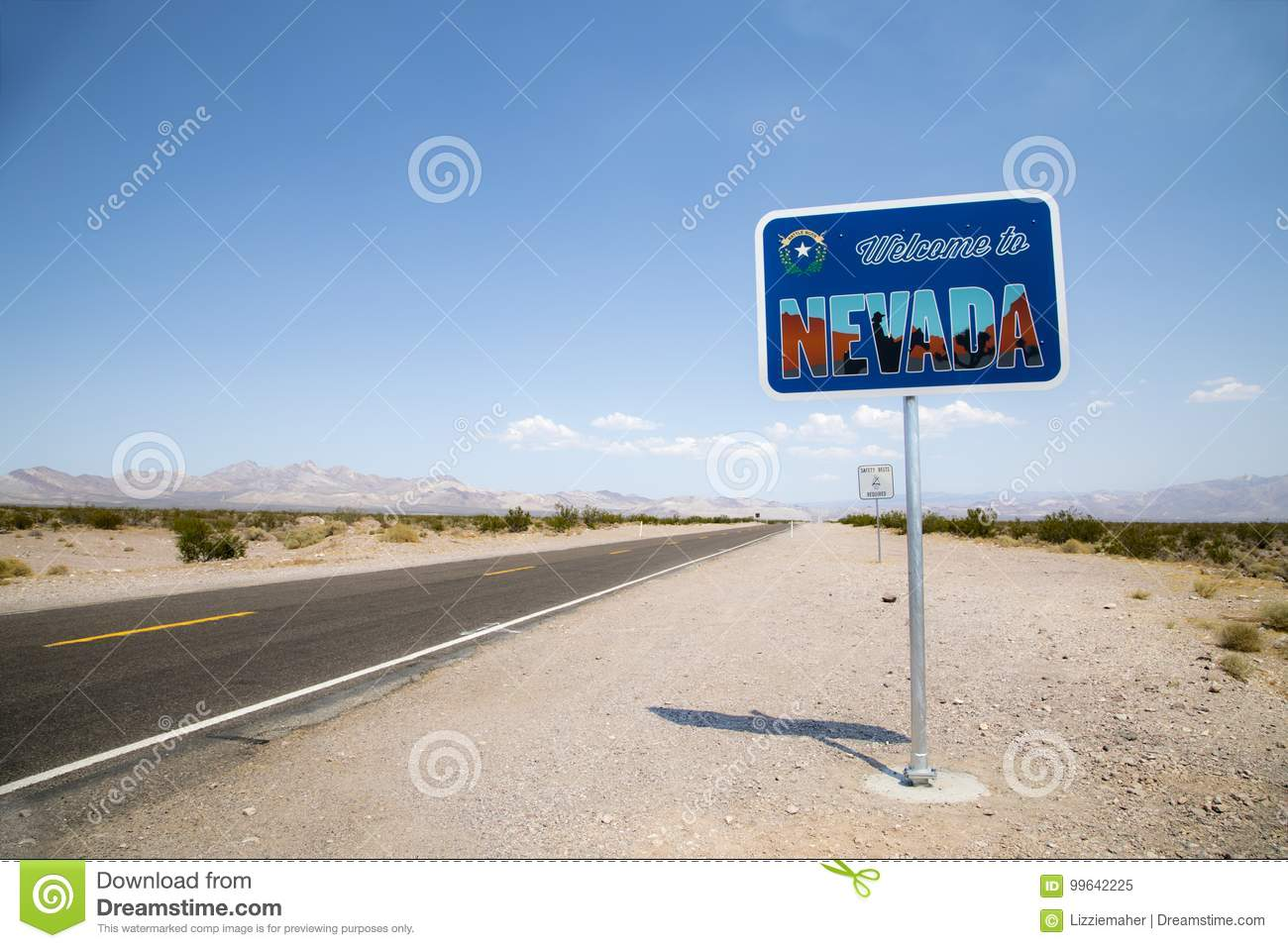 Welcome to Nevada sign stock image. Image of nevada