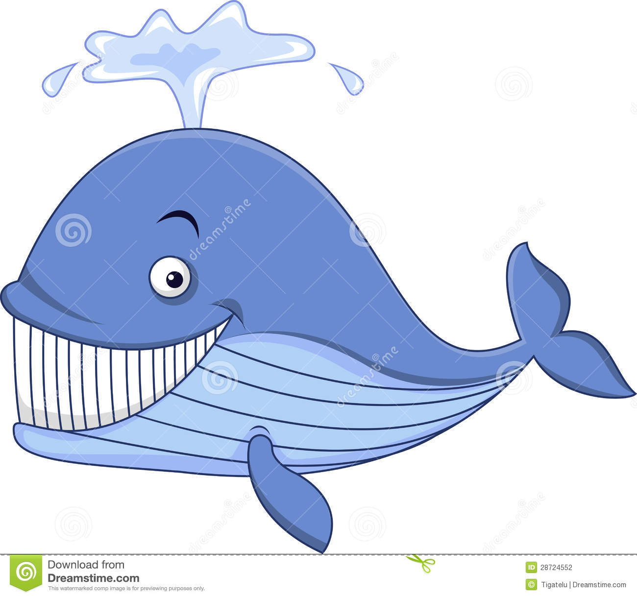 Blue whale cartoon stock vector. Illustration of mammal ...