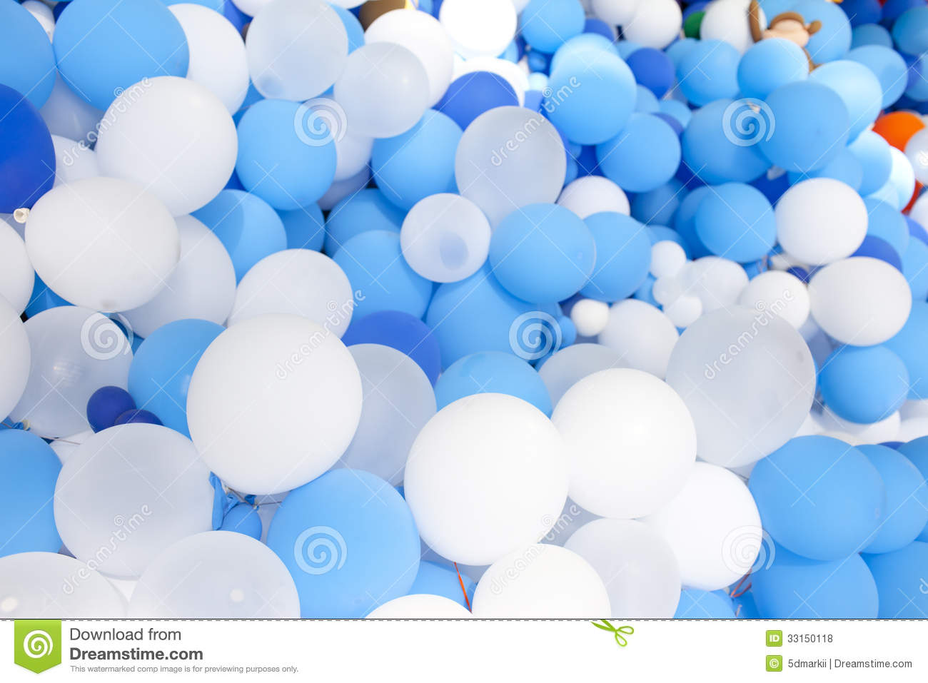 Blue And White Balloon Collection Royalty Free Stock ...