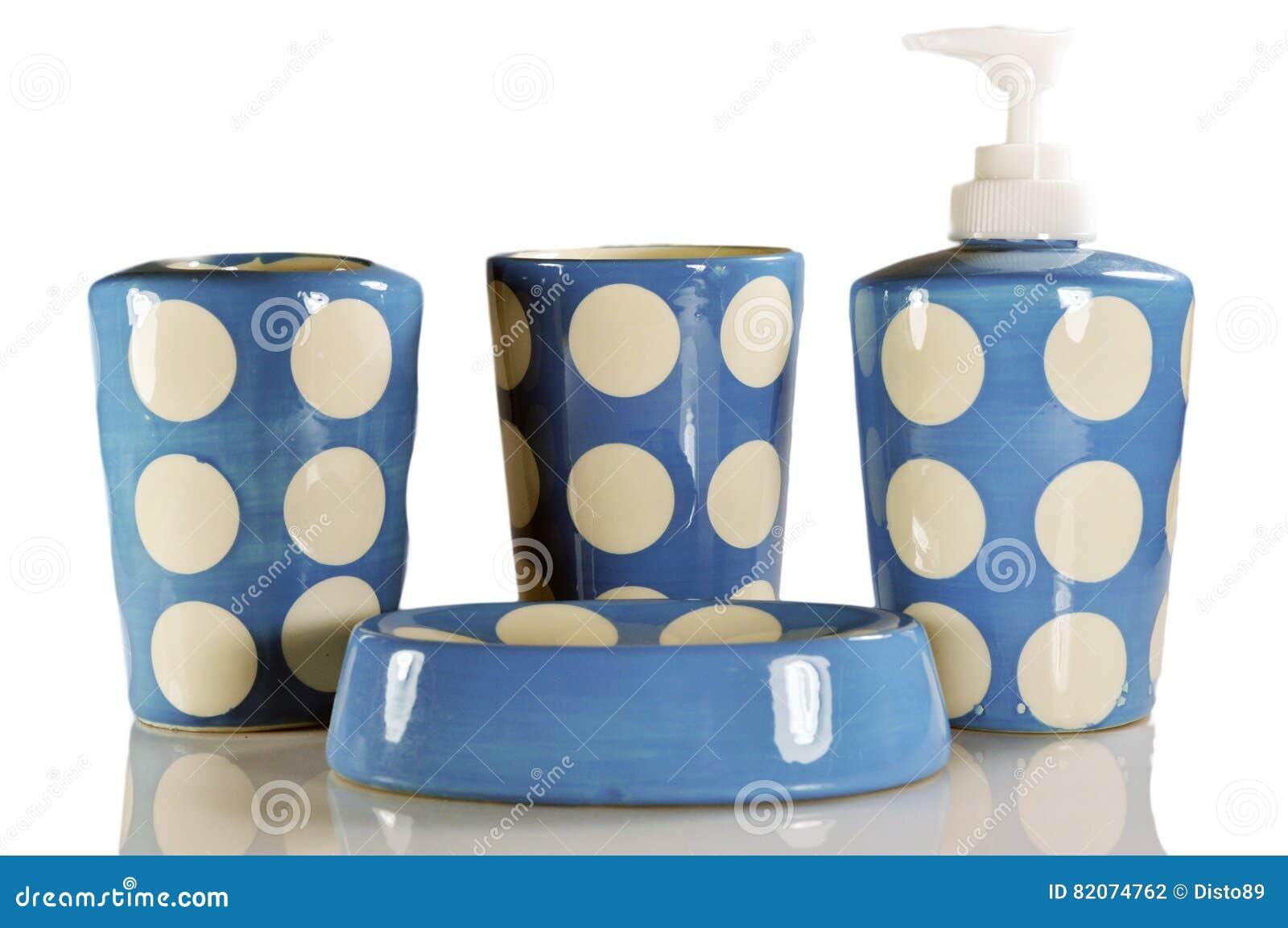 blue white bathroom set amusing blue & white porcelain five pcs