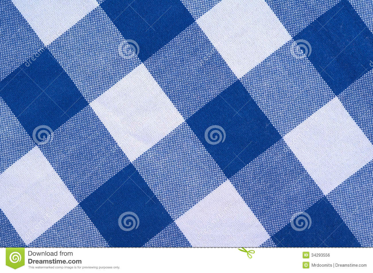 Blue And White Checked Material