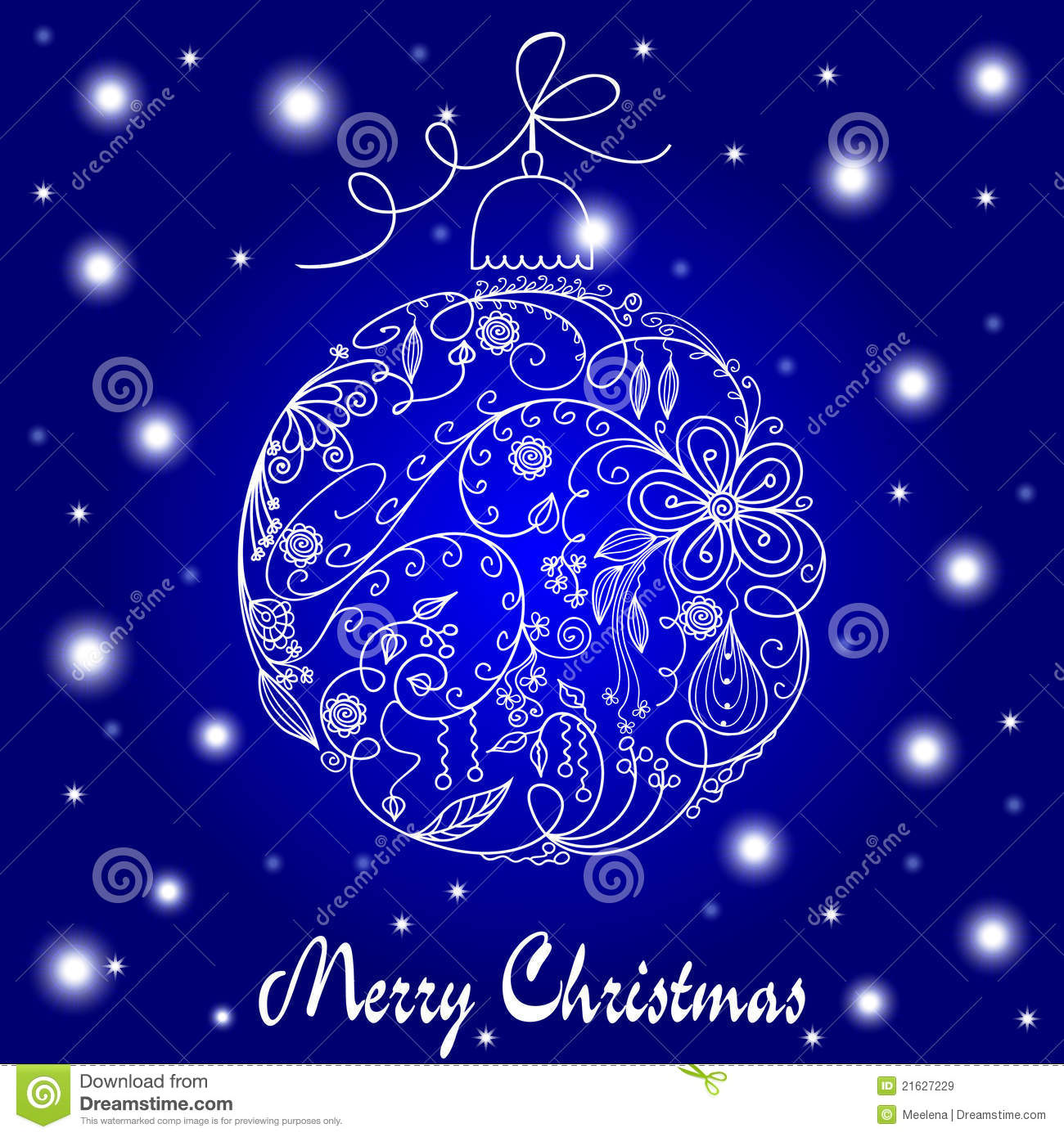 Blue And White Christmas Card Royalty Free Stock Images Image 21627229