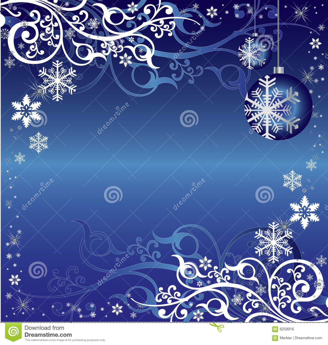 blue and white christmas themed background pattern stock vector