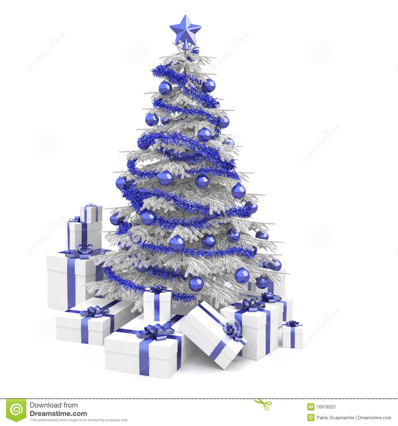 blue and white christmas tree - Blue And White Christmas Tree
