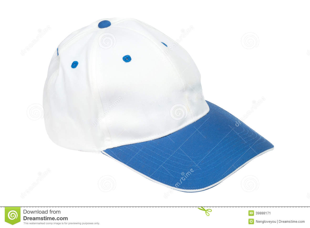 Blue And White Color Baseball Caps Stock Photo Image
