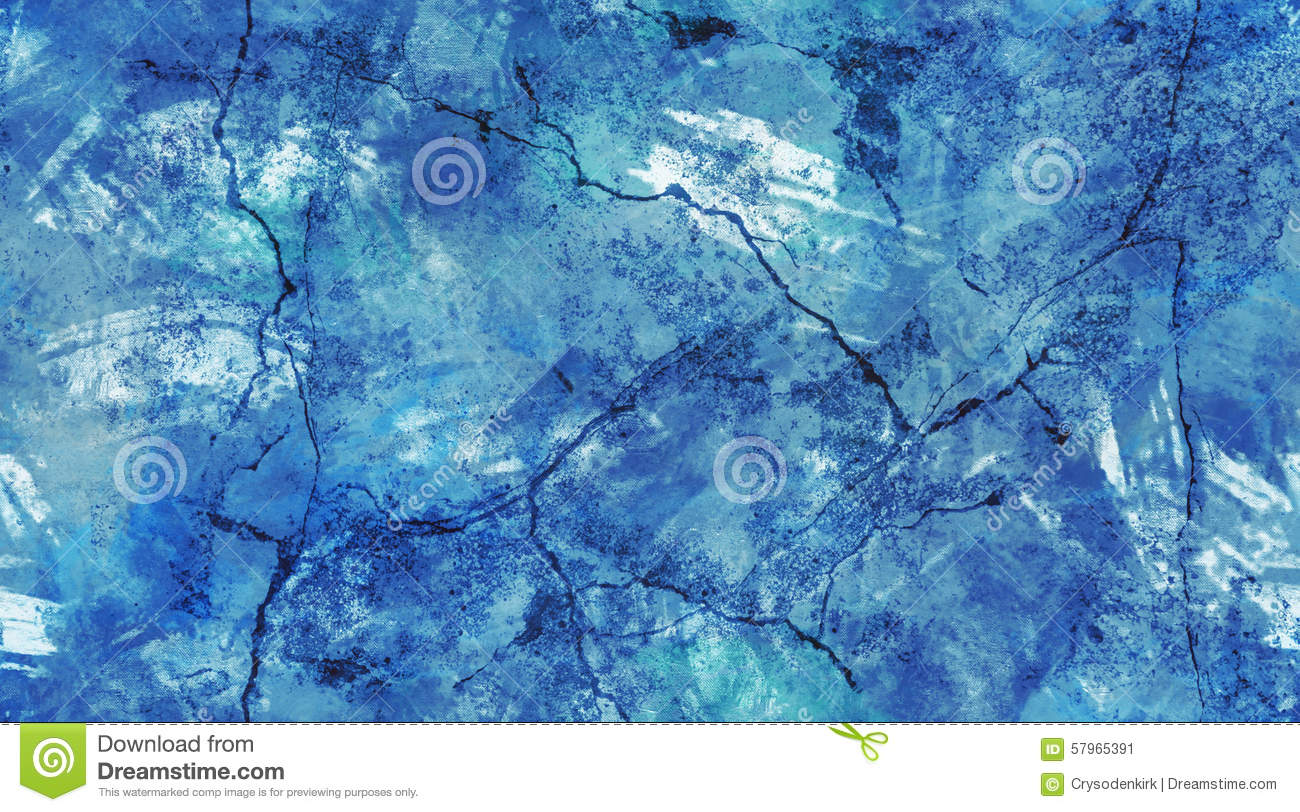 Blue and White Cracked Wall Seamless Texture Background