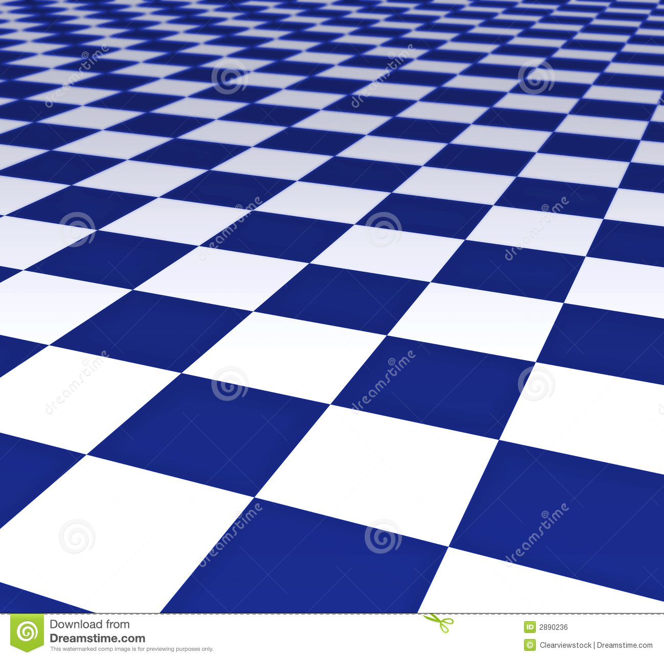 Blue And White Floor Tiles Stock Illustration