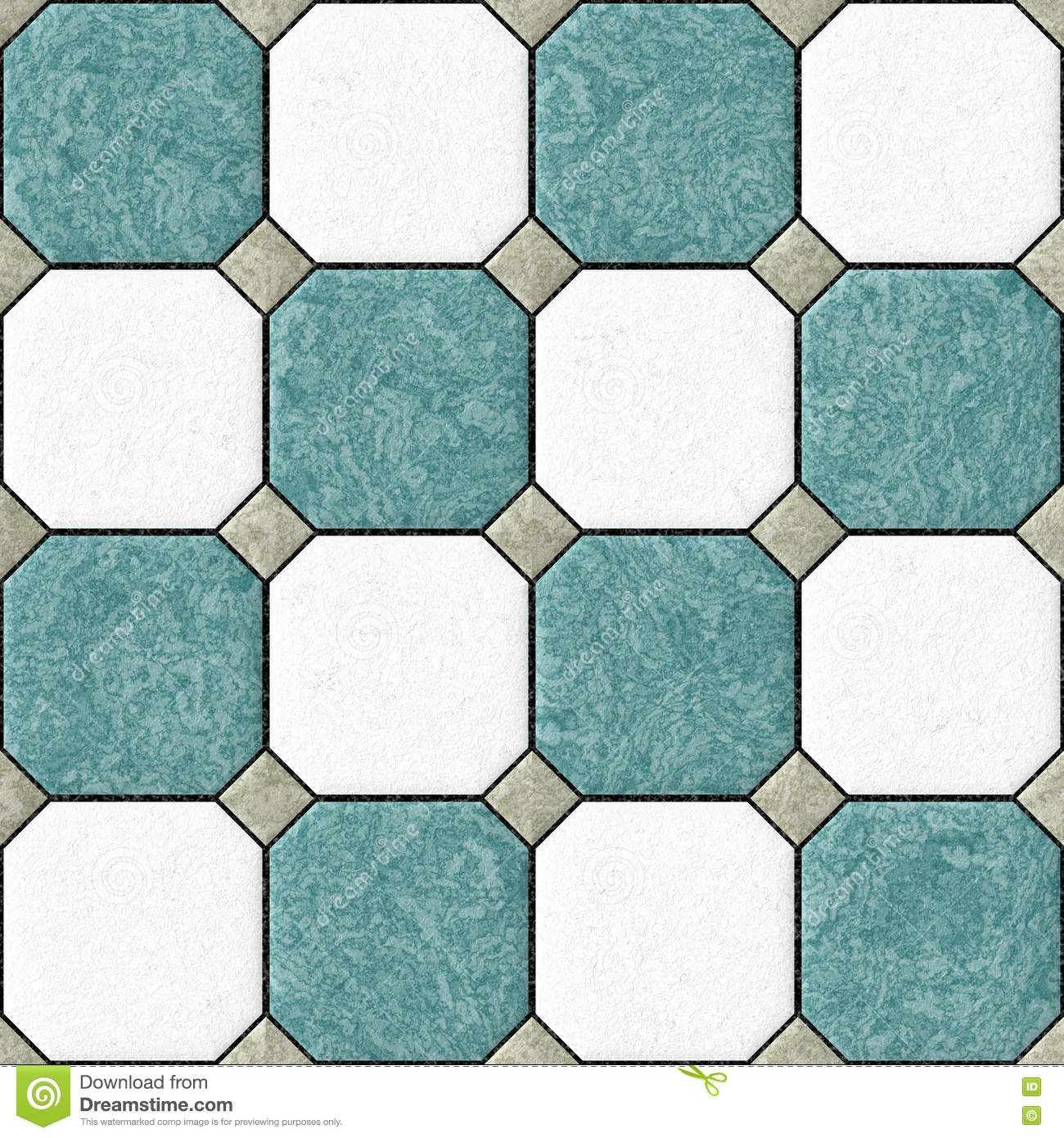 Blue White Floor Tiles Seamles Pattern Texture Background Stock ...
