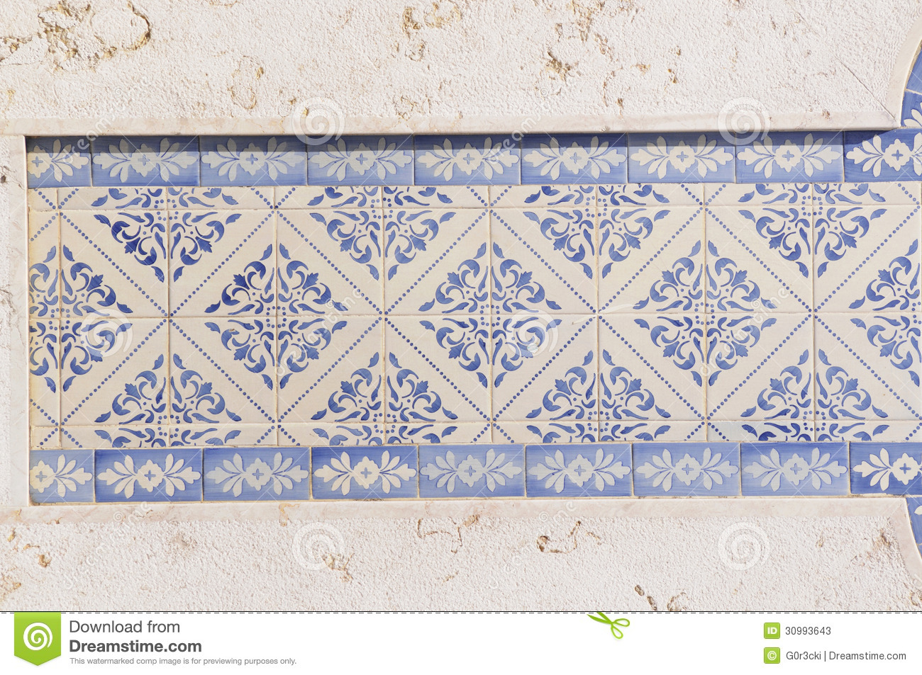 Blue And White Glazed Tiles Stock Image Image 30993643