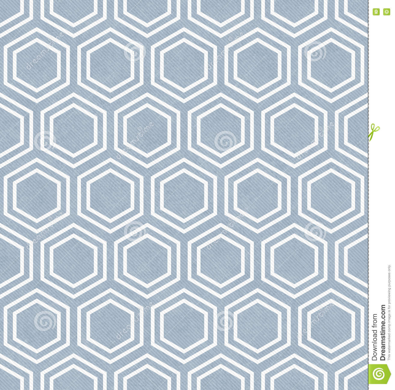 Blue And White Hexagon Tile Pattern Repeat Background Stock ...