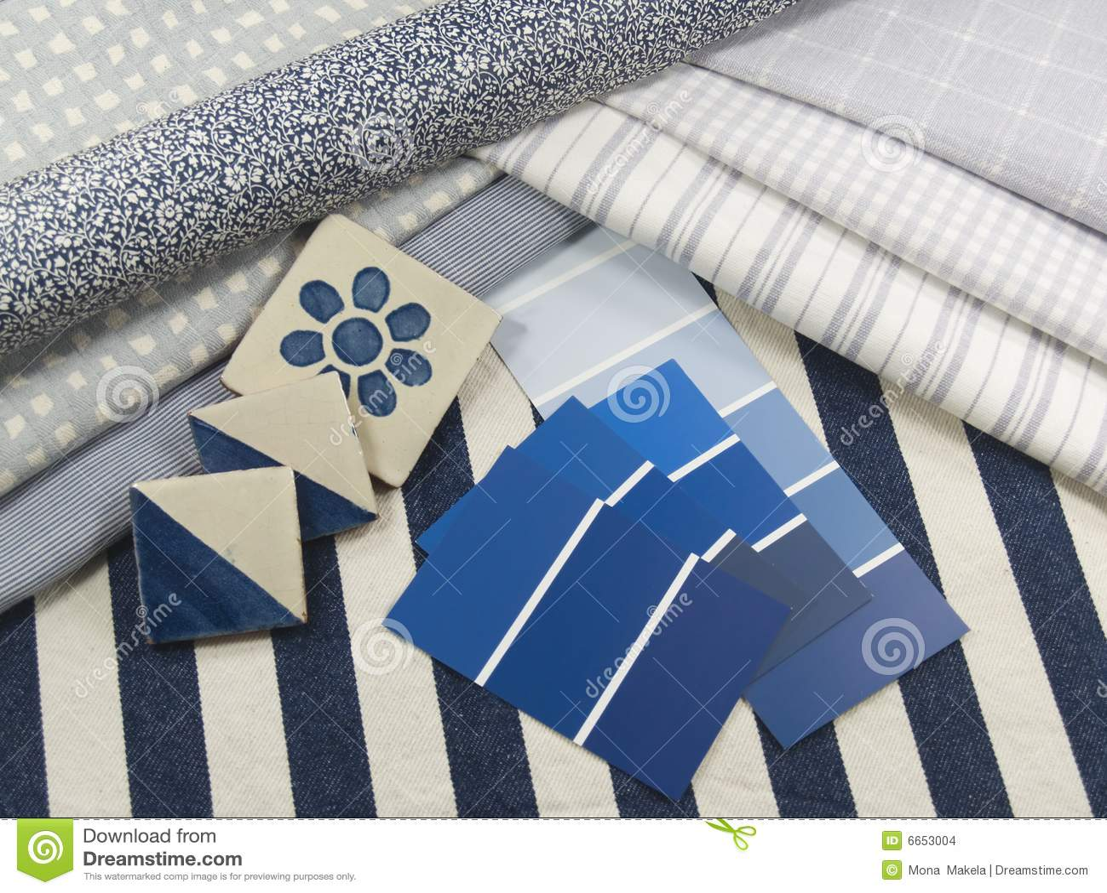 Blue and white interior design plan
