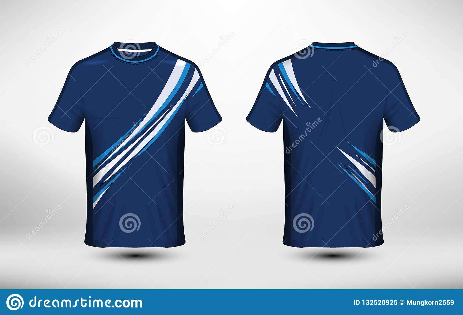 9dc62c9b3 Blue And White Layout E-sport T-shirt Design Template Stock Vector ...