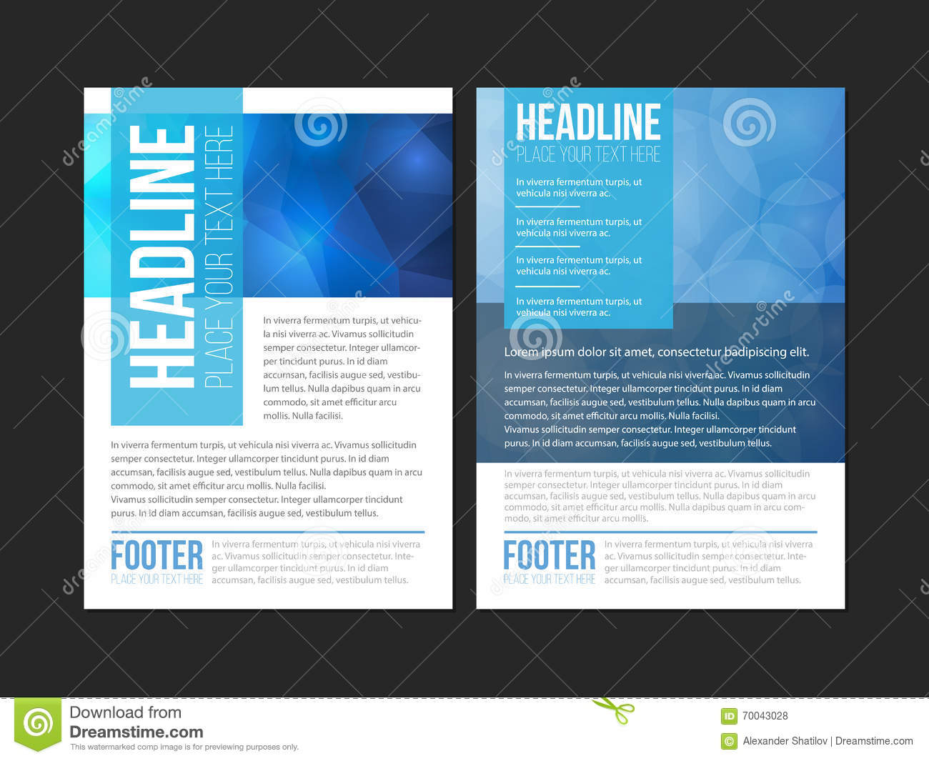 Blue White Leaflet Brochure Flyer Template Book Cover - Library brochure templates