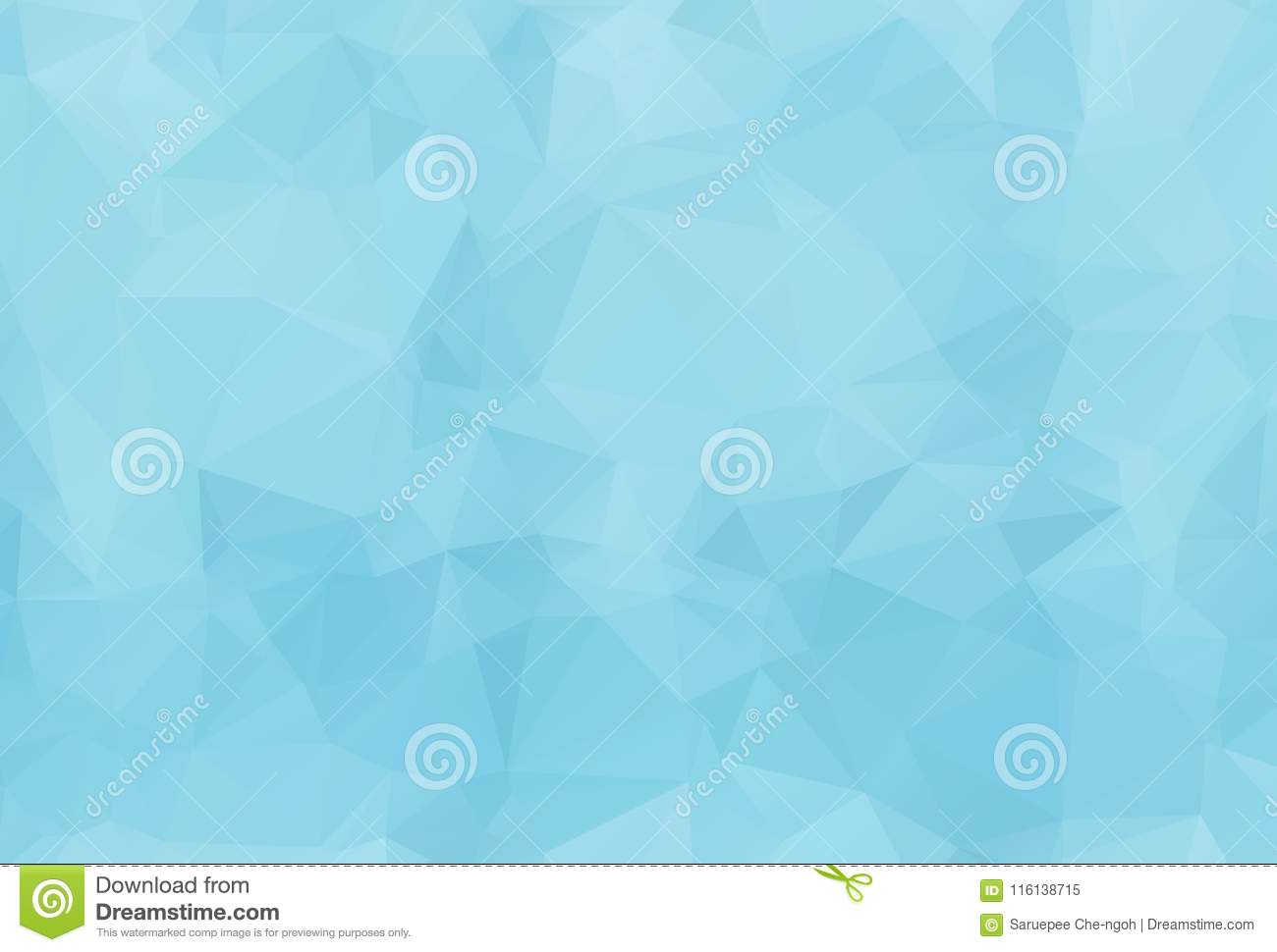Blue White Light Polygonal Mosaic Background, Vector illustration,