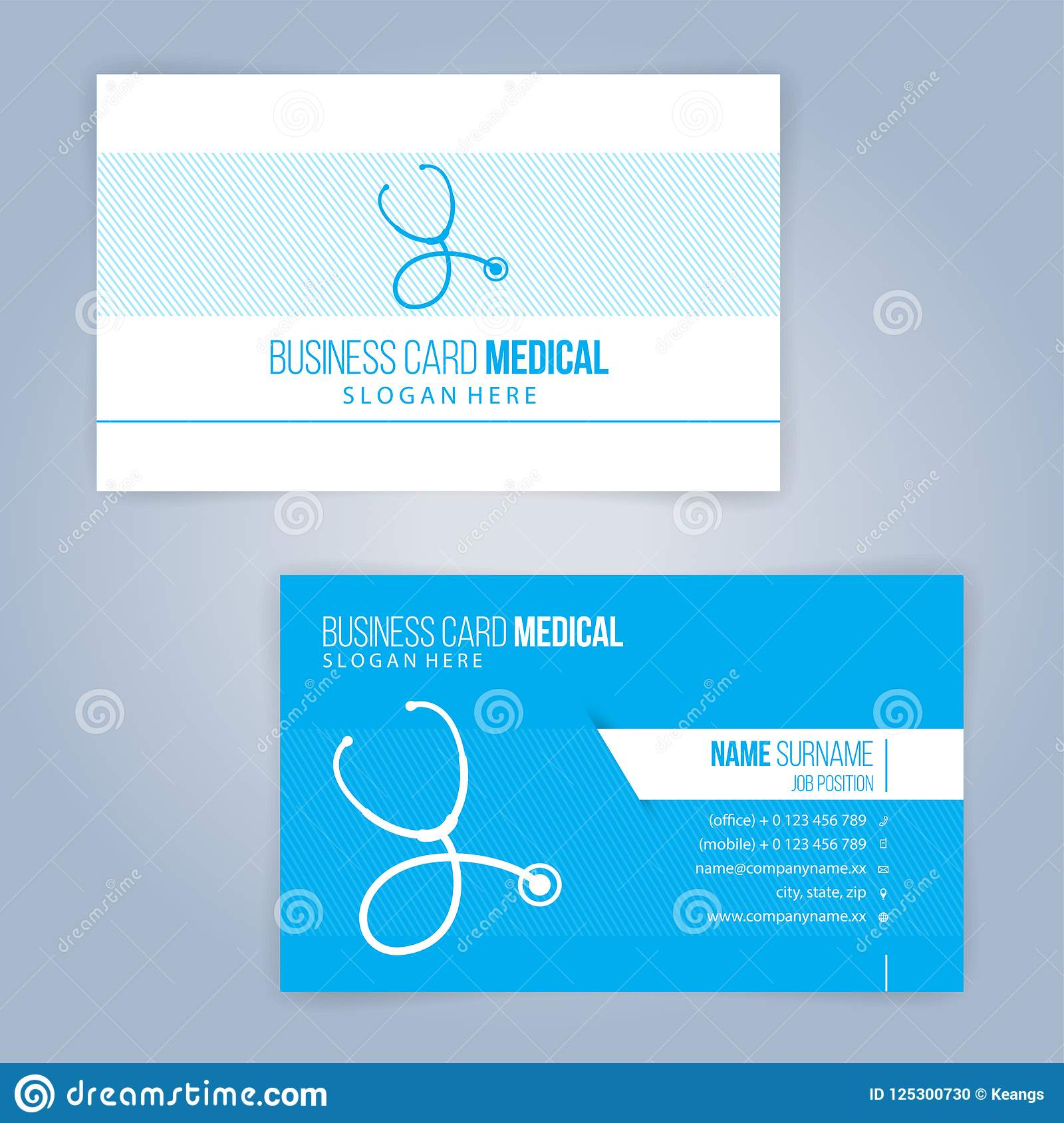 Blue and white modern business medical card template stock vector download blue and white modern business medical card template stock vector illustration of reheart Images