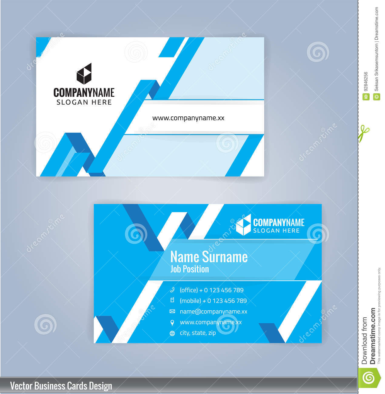 Blue and white modern creative and clean business card design blue and white modern creative and clean business card design template magicingreecefo Choice Image