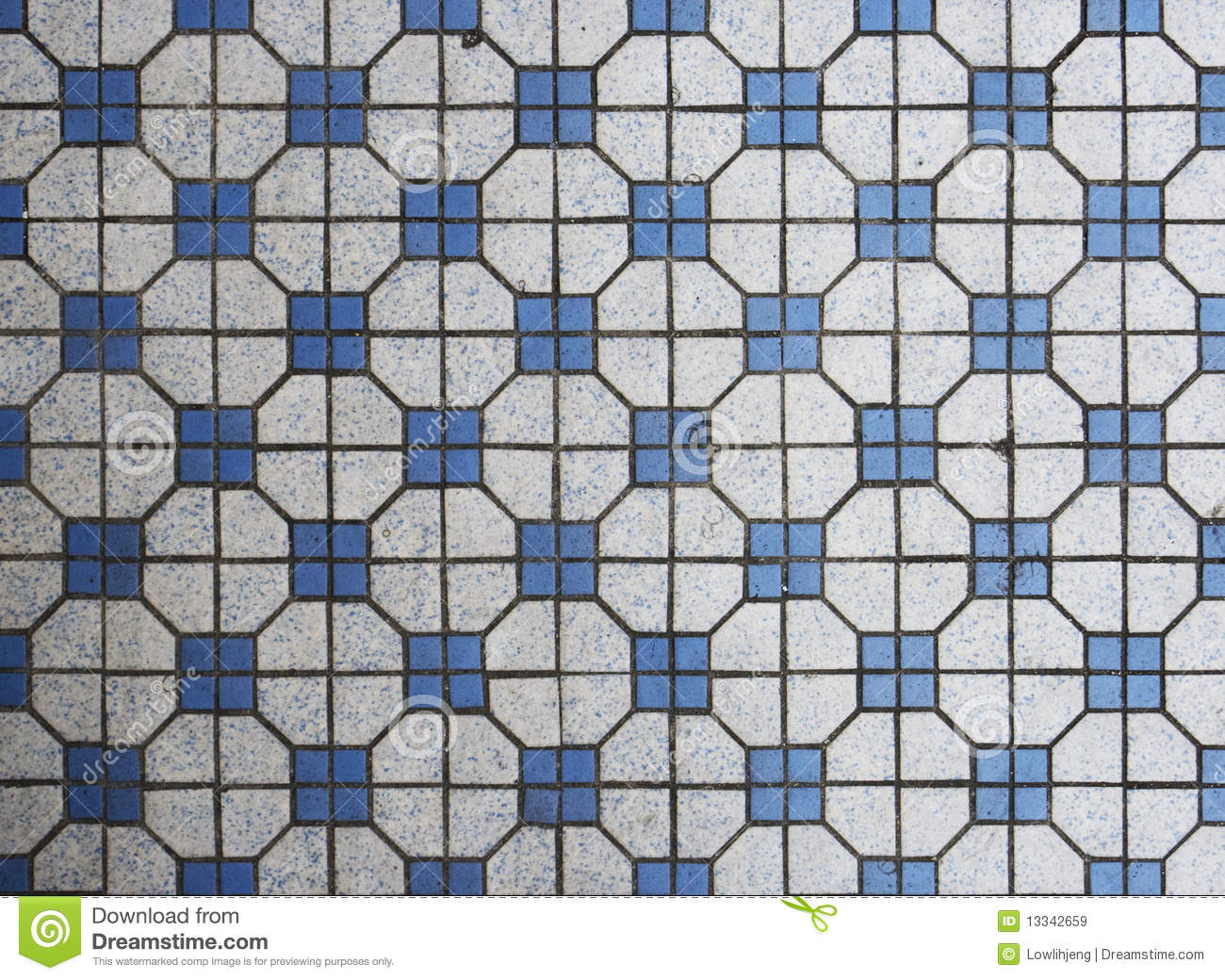 Blue And White Mosaic Tiles Stock Image Image 13342659