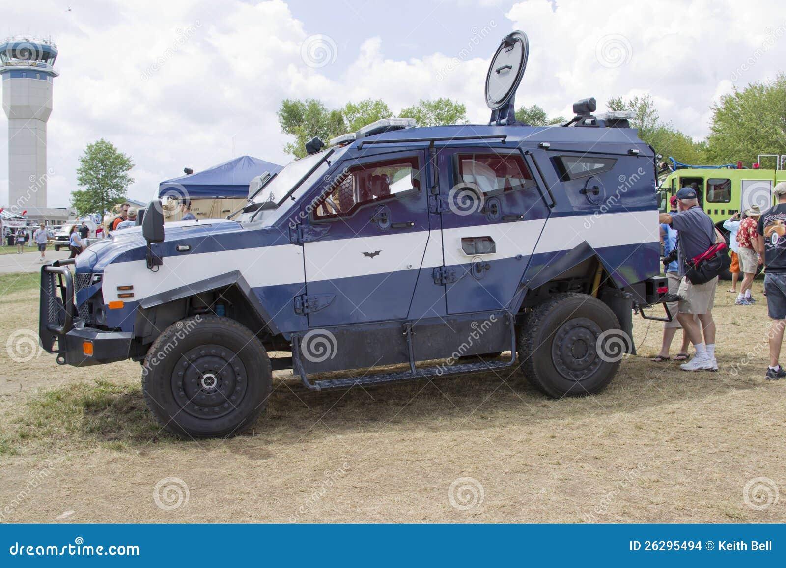 Blue And White Oshkosh Corp Tpv Miilitary Vehicle