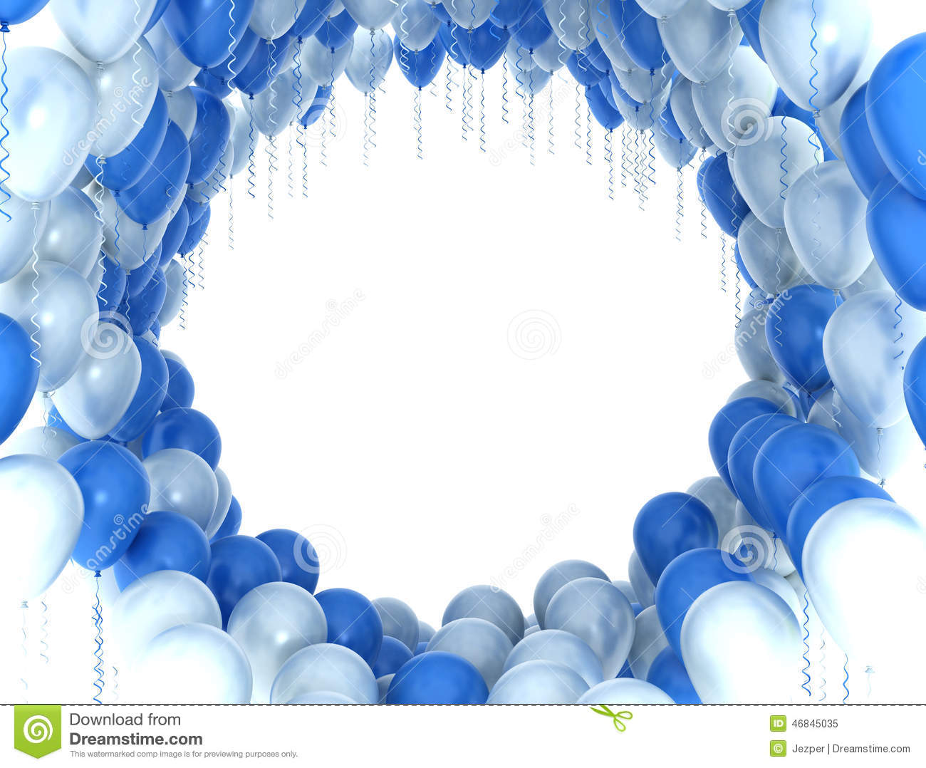 blue and white party balloons stock illustration illustration of