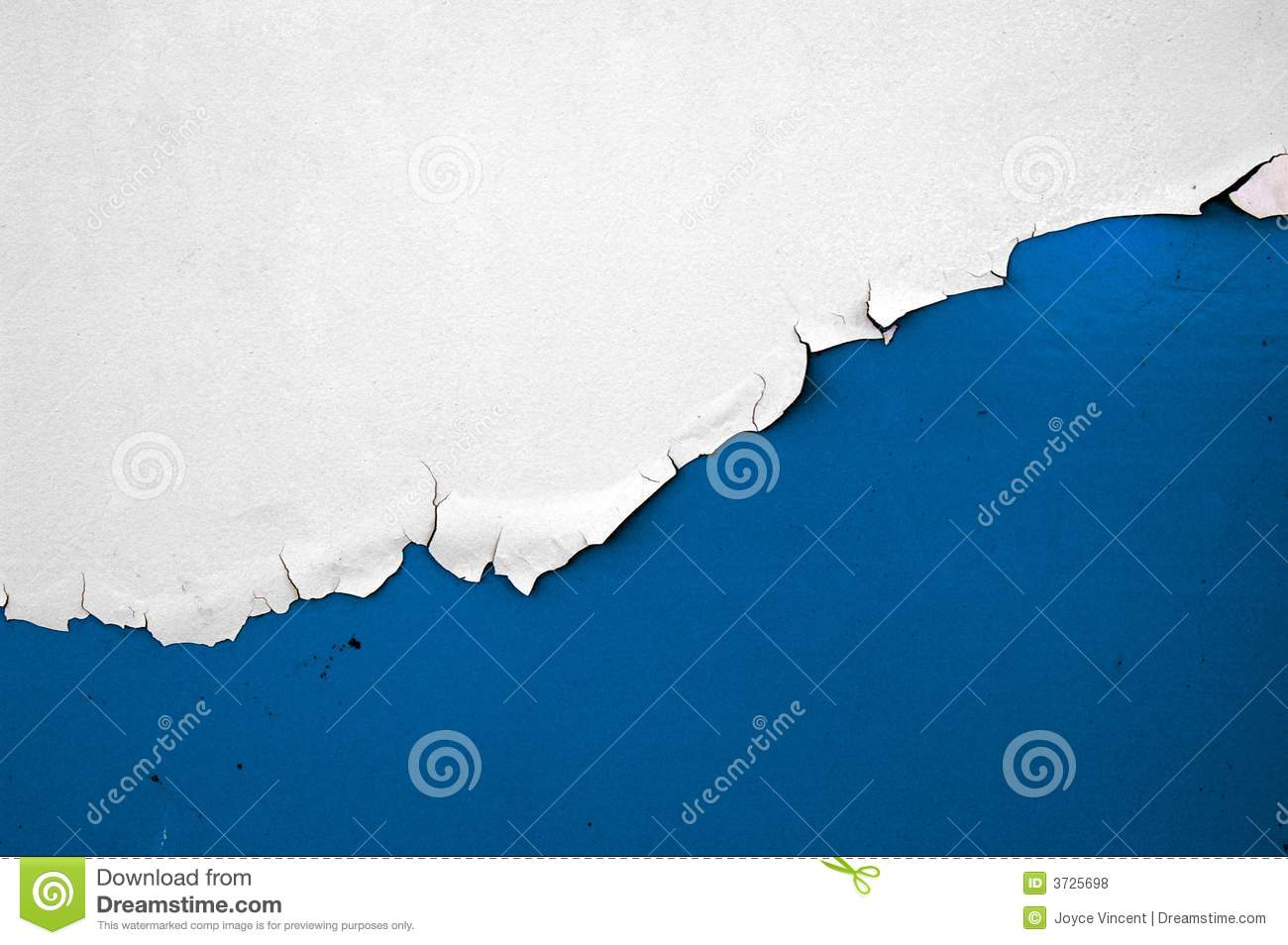 blue and white peeling paint chips royalty free stock photos