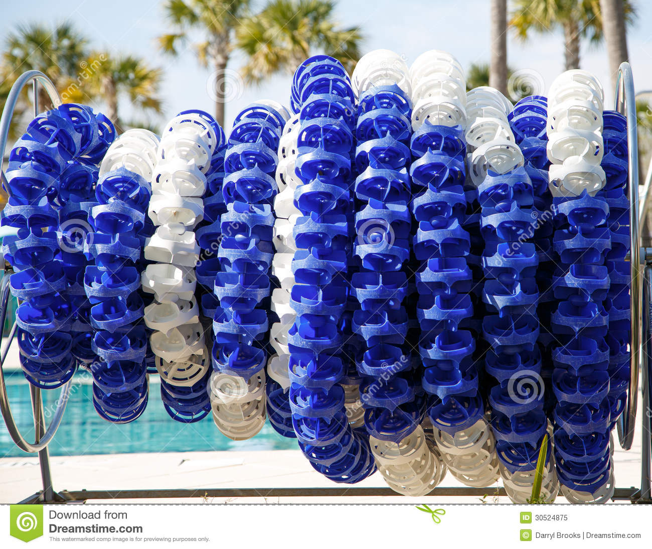 Blue And White Pool Divider Stock Image Image Of Storage