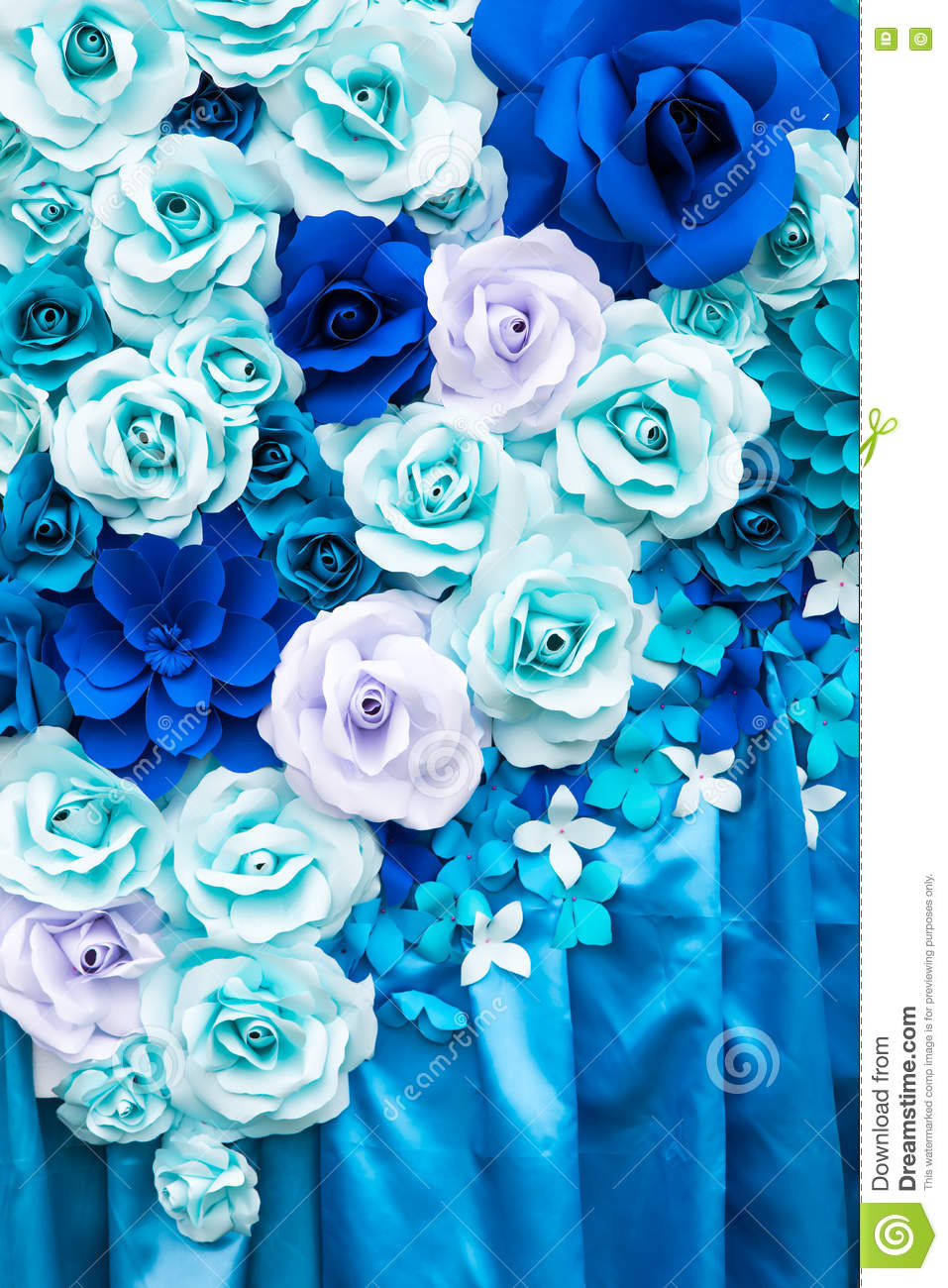 Blue And White Roses Background Paper Stock Photo Image Of