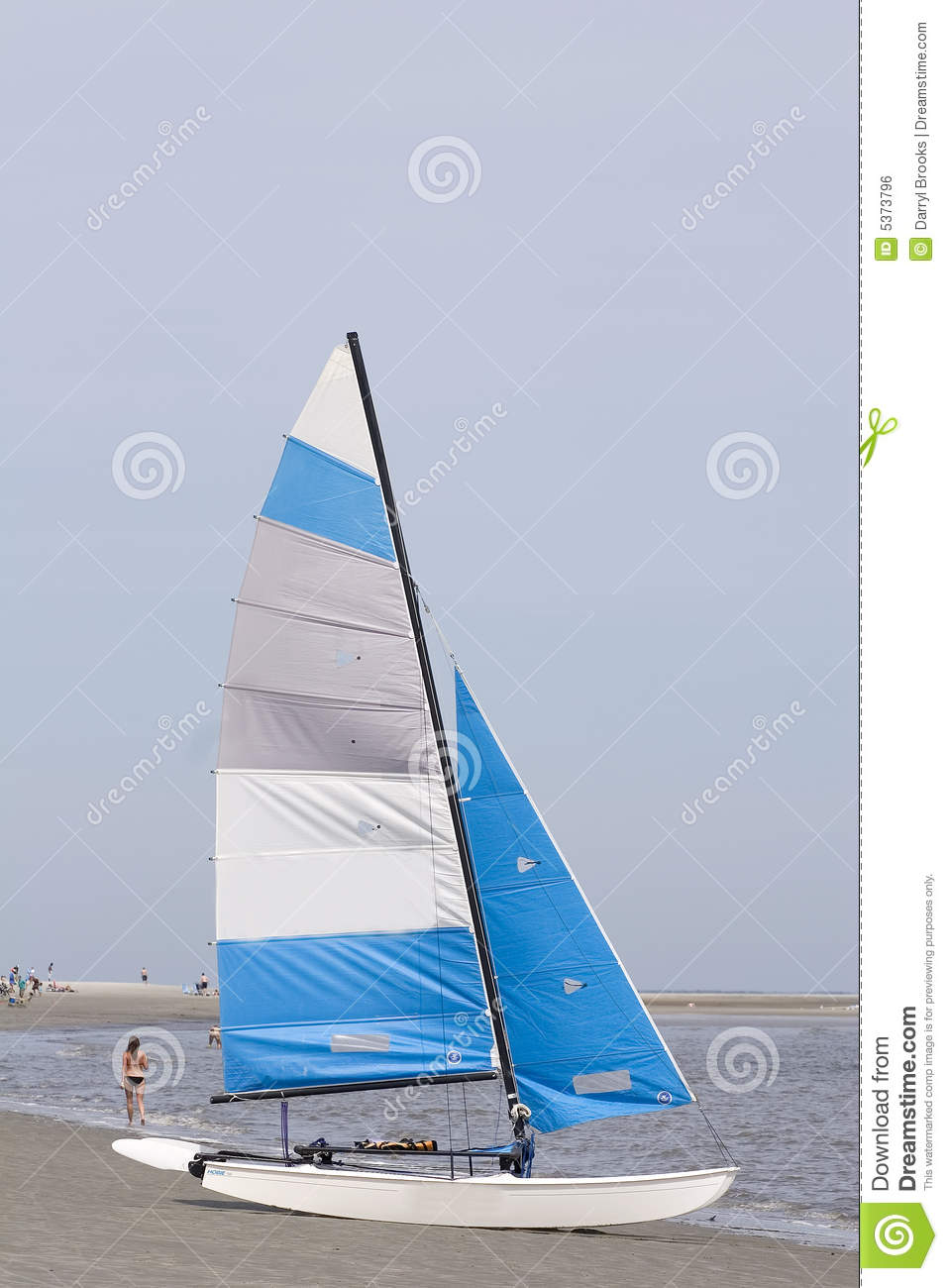 Blue and White Sailboat stock photo. Image of ocean, white ...
