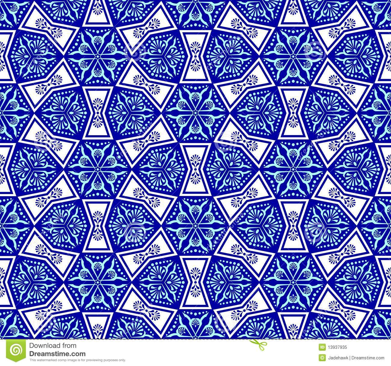 Seamless pattern inspired by Islamic art. The tiles can be combined ... Easy Arabesque Art
