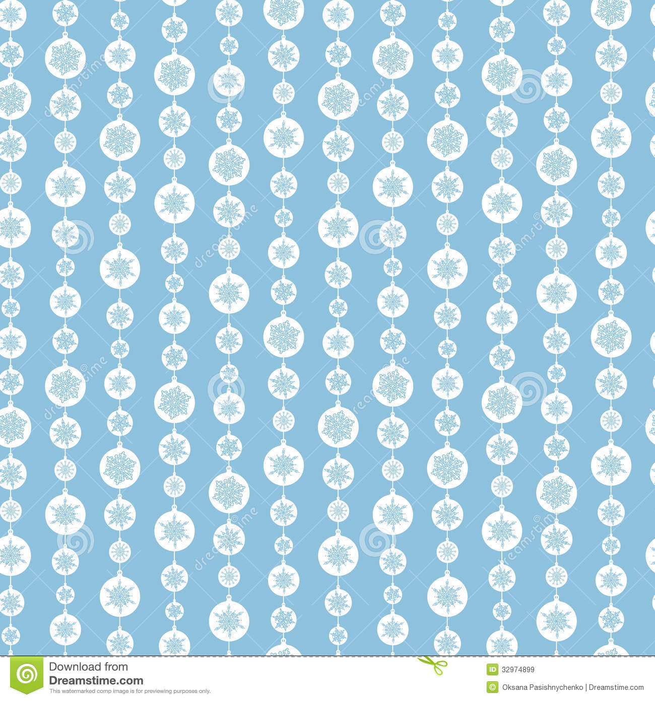 Blue And White Snowflakes Stripes Seamless Pattern Stock ... Blue And White Stripe Pattern