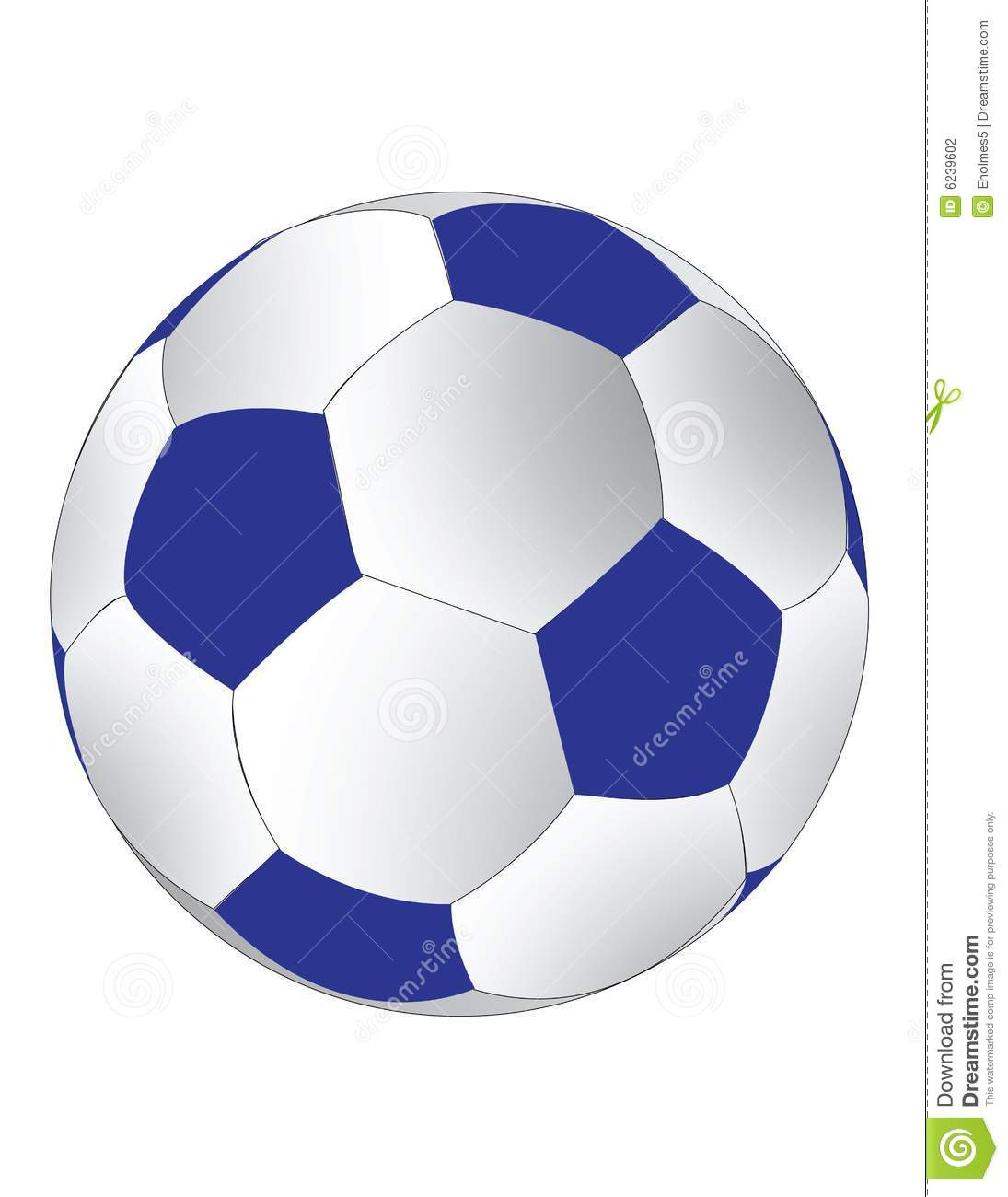 Blue And White Soccerball Stock Photography - Image: 6239602