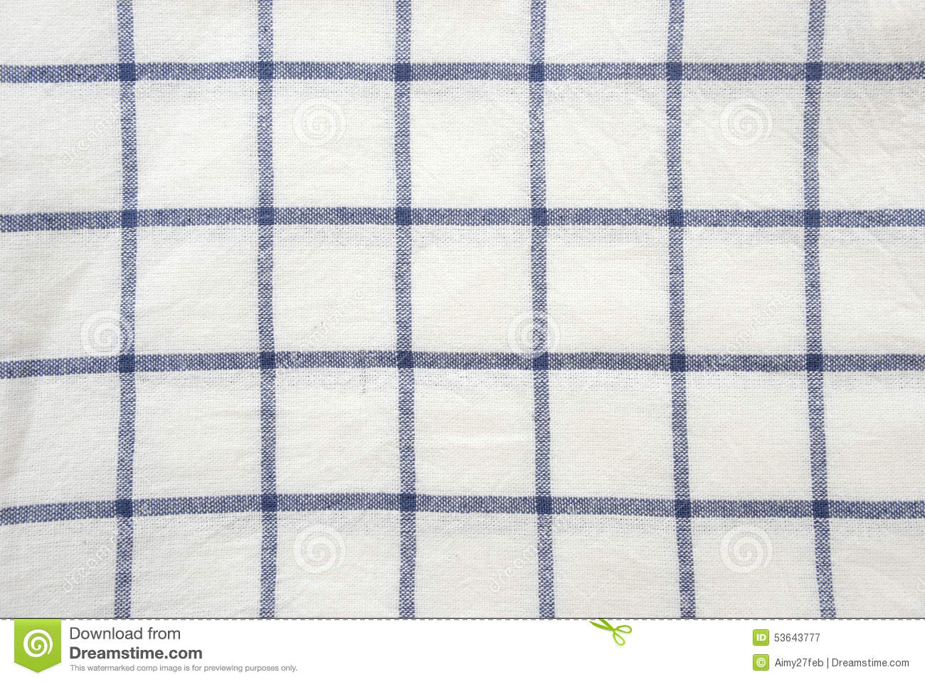 Blue And White Square Tablecloth Background