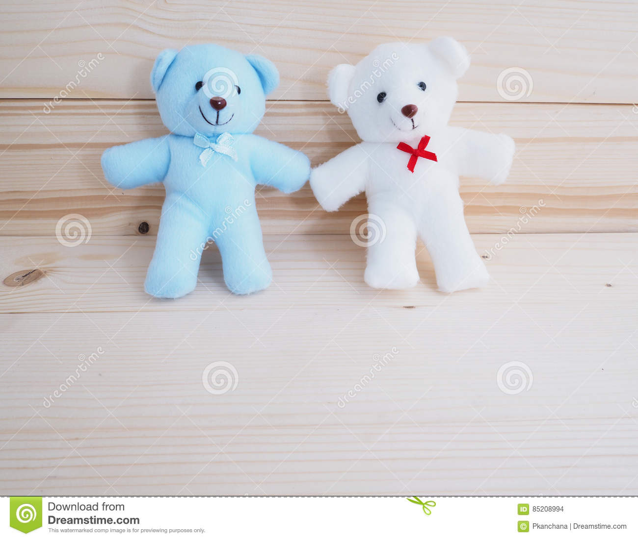 Blue and white toy teddy bear