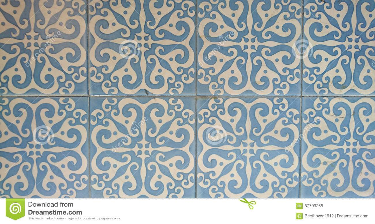 Blue and White Wall tiles stock photo. Image of british - 87799268