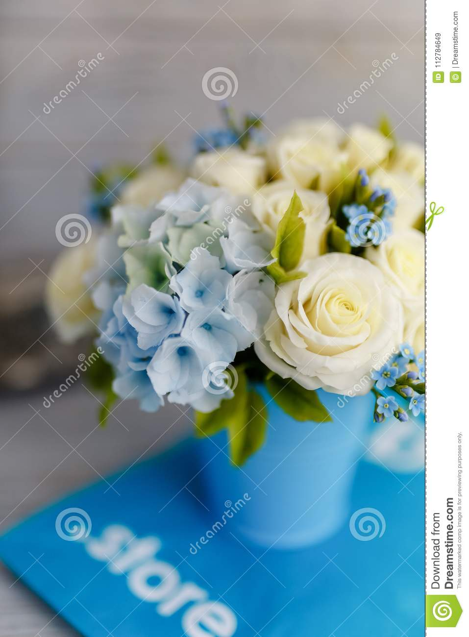 Blue and white wedding flowers stock image image of bottles download blue and white wedding flowers stock image image of bottles candy izmirmasajfo