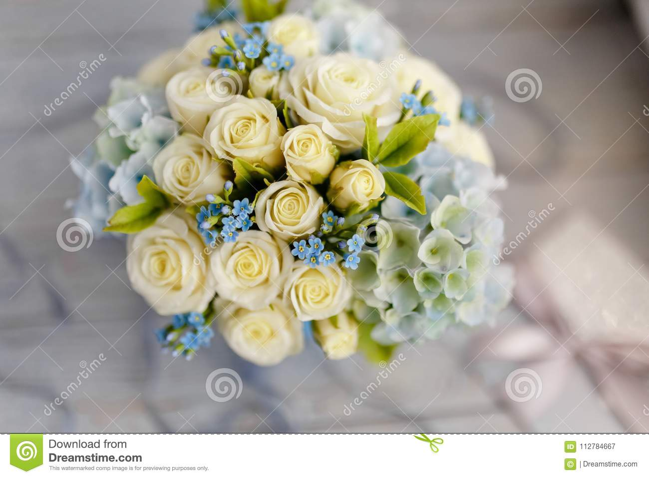 Blue And White Wedding Flowers Stock Image Image Of Cutout