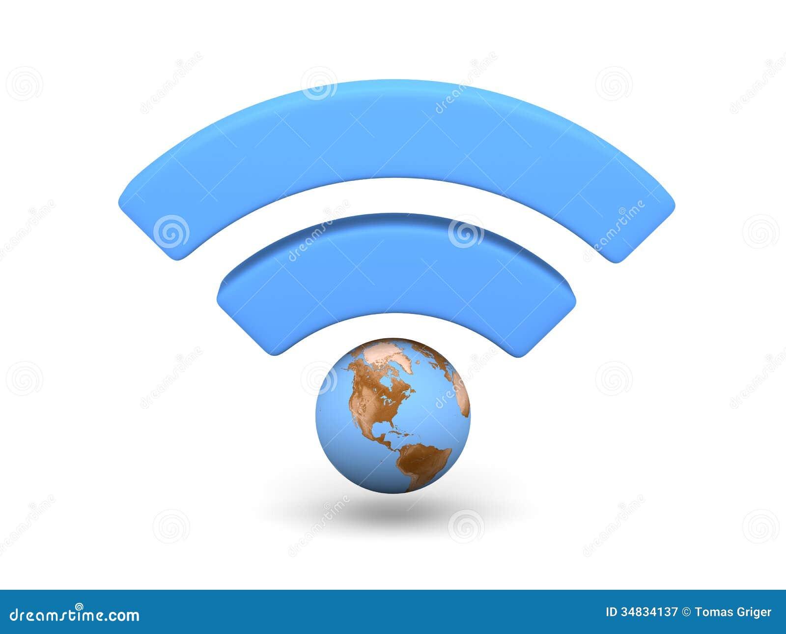 Unlimited Wifi Hotspot >> Blue WiFi symbol stock illustration. Illustration of wifi - 34834137
