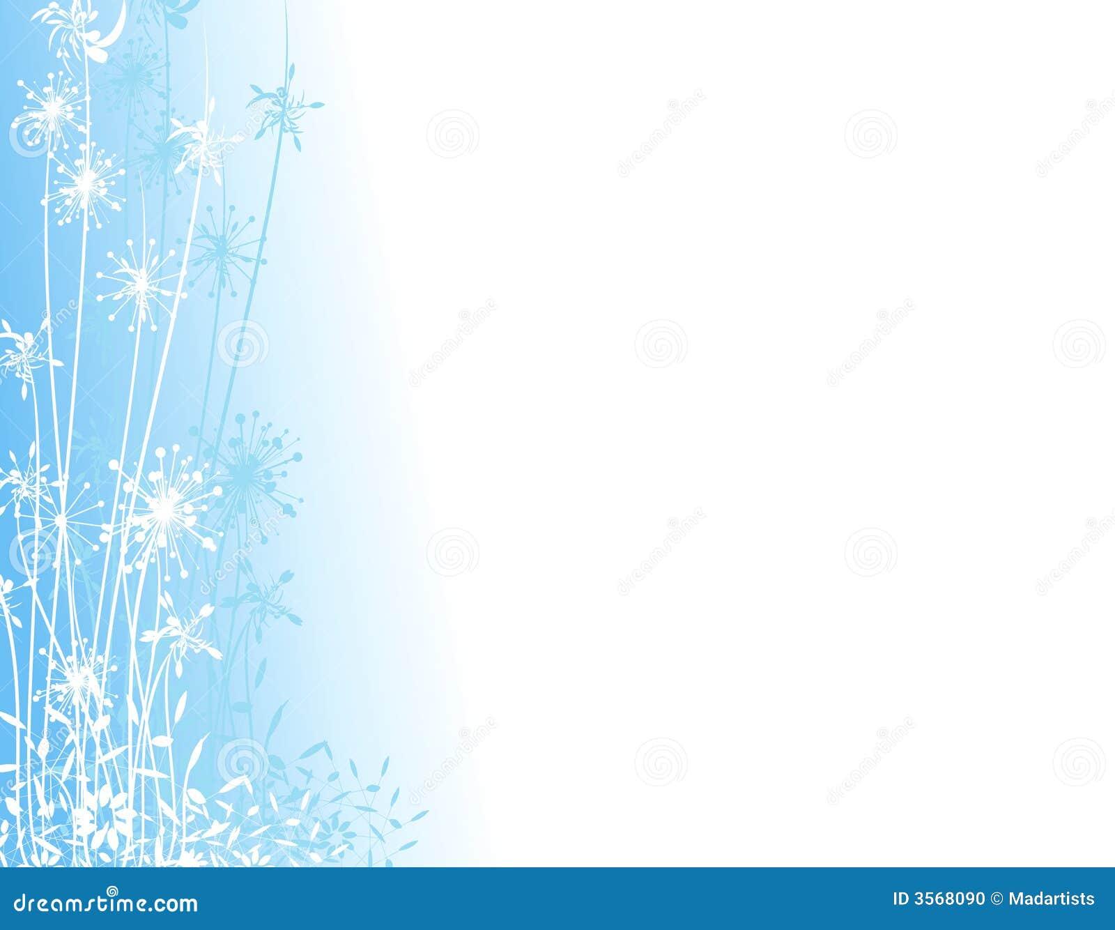 Blue Winter Garden Silhouette