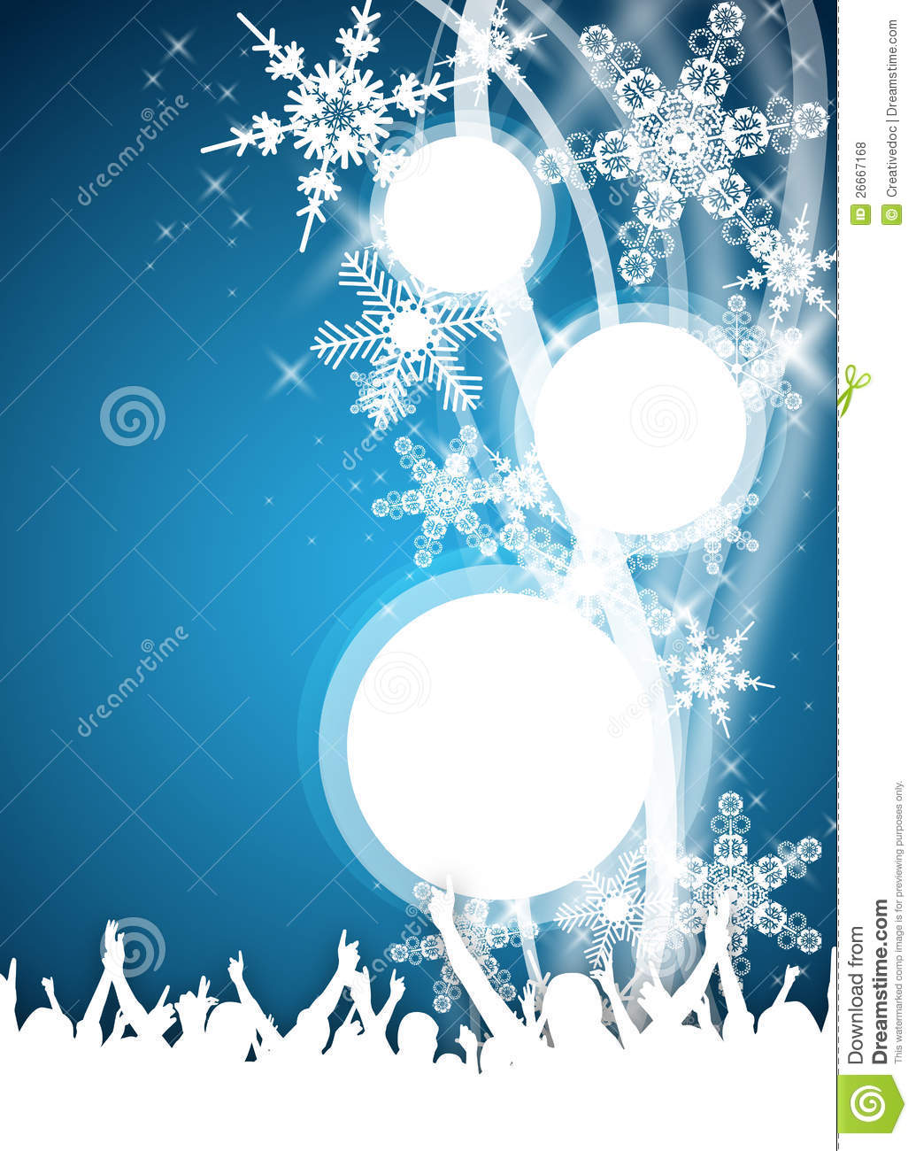 blue winter party flyer royalty stock photos image 26667168 blue winter party flyer