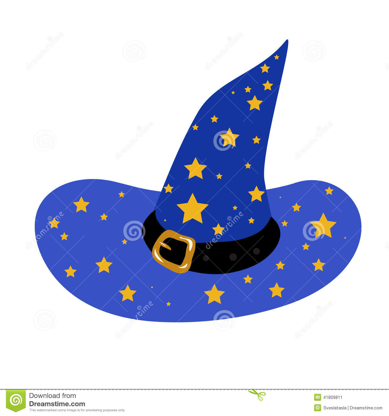 blue wizard s hat stock vector illustration of drawing 41809811