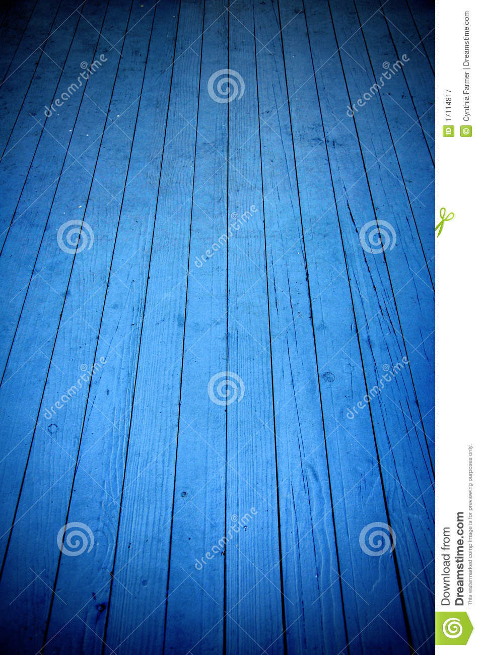 Blue Wood Floor Abstract Royalty Free Stock Photography