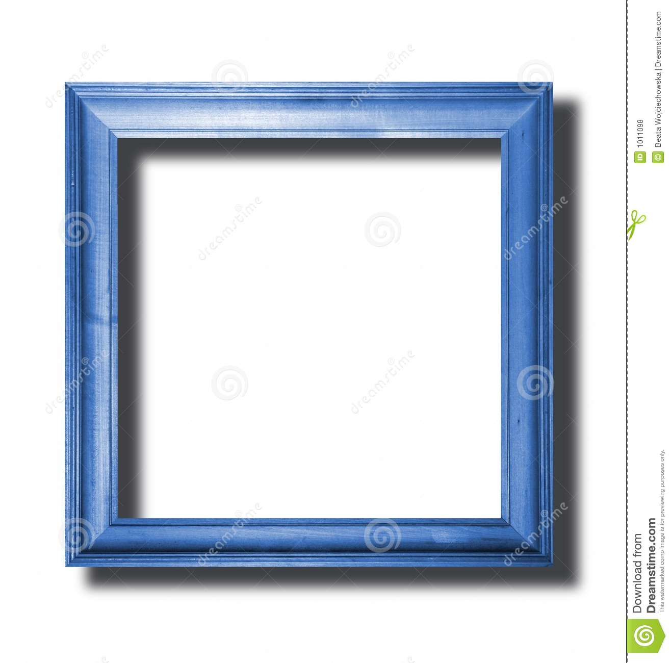 Blue Wooden Frame Royalty Free Stock Photos - Image: 1011098