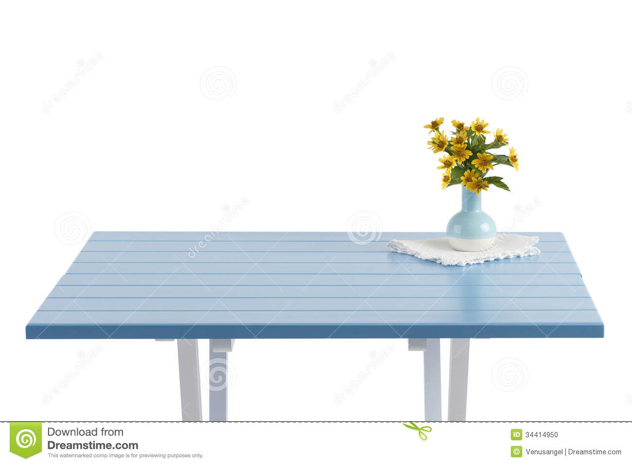 Blue wooden table with flowers in vase stock photo image of blue wooden table with flowers in vase reviewsmspy