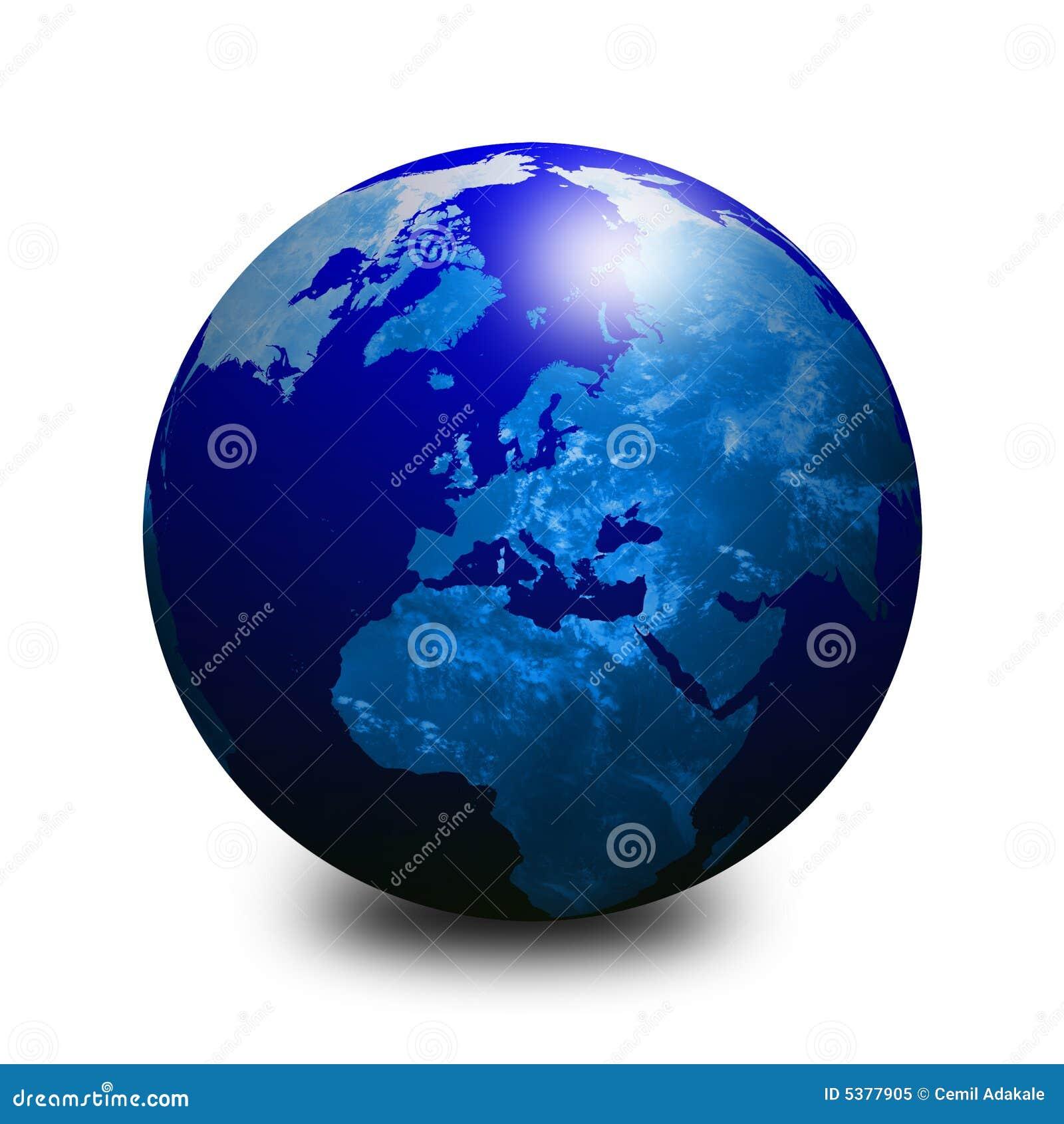 Blue World Globe 3 Royalty Free Stock Photo - Image: 5377905