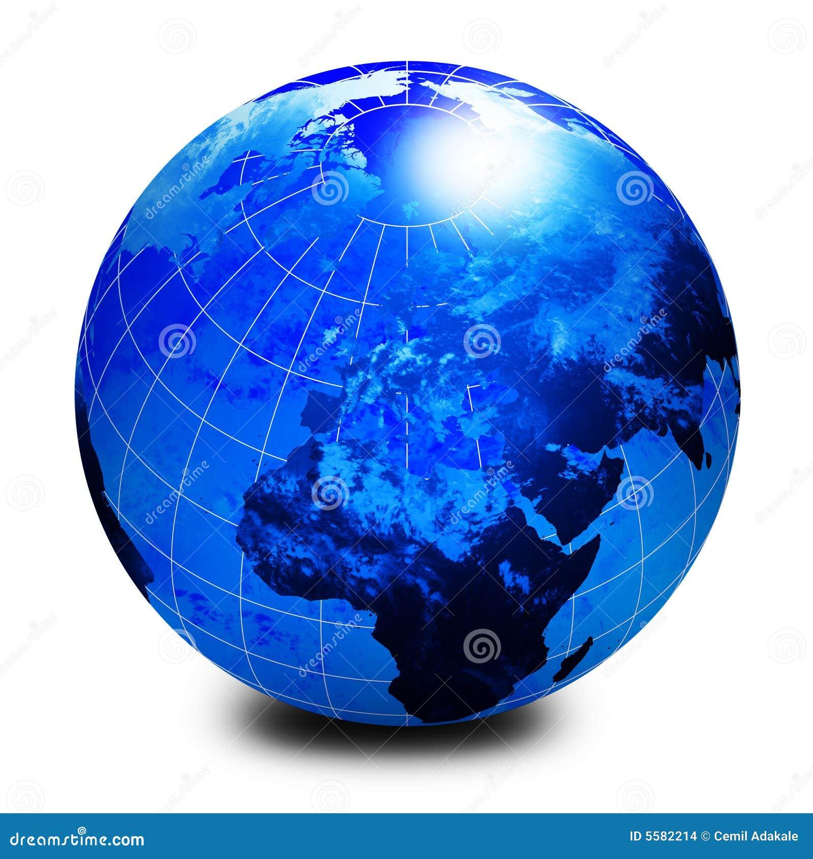 World: Blue World Globe Stock Illustration. Illustration Of World